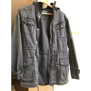 Aritzia Talula Trooper Jacket XXS in Grey